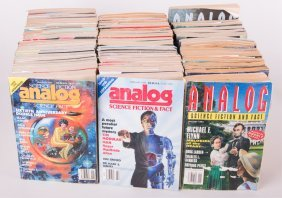 1990 Analog Science Fact Science Fiction Magazines
