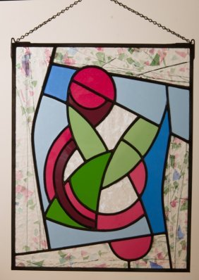 Abstract Stained Glass Panel