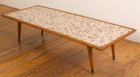 Mid-century Tile-top Coffee Table