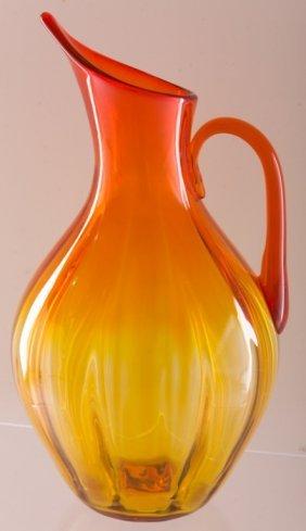 Blenko Amberina Glass Pitcher