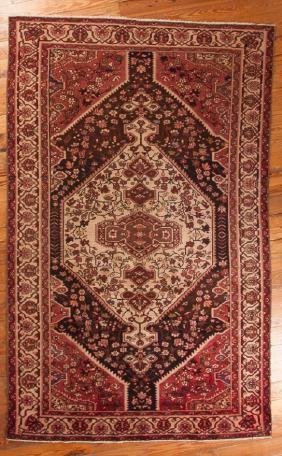 "Antique Bakhtiari 6'7"" X 10'8"" Wool Rug"