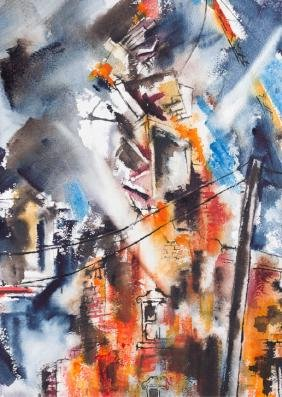 Cynthia Young Abstract Watercolor, D.C. Artist