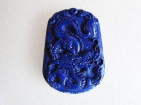 Loose Pendant Carved Dragon Lapis Lazuli 133.50ct