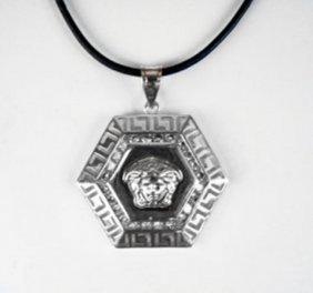 Caesar Pendant Creation Diamond 3.45ct 18k W/g Overlay