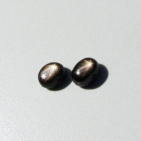 Natural Black Star Sapphire Pairs Oval Cabochon 5.66ct