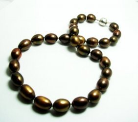 Chocolate Culture Pearl Necklace 10-11mm