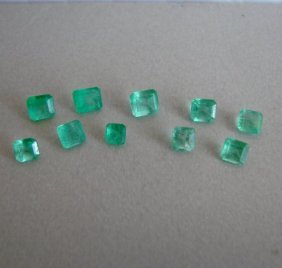 Mixed Size Cushion Shape Columbia Emerald 3.60ct
