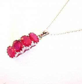 Ruby Pendant 6.56ct 18k W/g Overlay