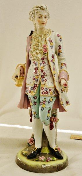1970s Huge Andrea Sadek Hp Porcelain Noble Lady Statue