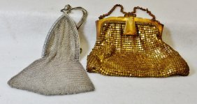 1915-25 Sgnd Whiting & Davis Silver Solder, Gold Purses