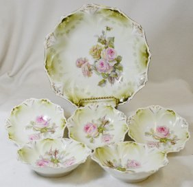 1904-14 Rs Prussia Wreath & Star 6 Pc Master Berry Set