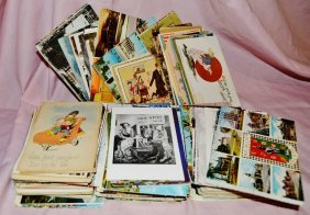 Mixed Lot Over 300 Vintage Antique Postcards