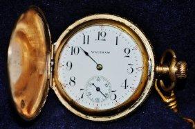 Waltham Gold Pocket Watch Defiance Chain C1890