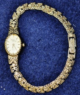 Vtg Michael Anthony 14kt Gold Ladies Watch