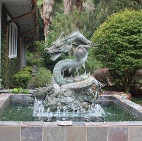 20th C. Monumental Chinese Dragon Fountain