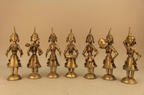 Vintage 7 Pc Middle Eastern Tin Band