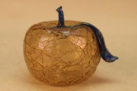 Murano Style Glass Apple Sculpture