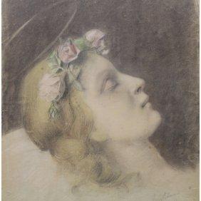 Antique Signed Portrait (print)