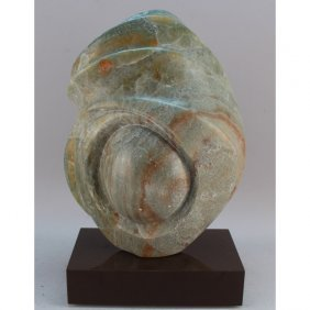 Midcentury Modern Carved Marble Abstract Sculpture