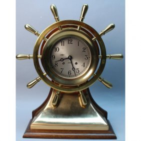 10 Spoke Brass Chelsea Mariner Ship's Clock