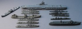(13) Tri-ang Minic Ship Models, Us Navy Fleet