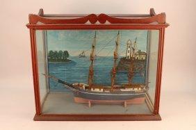 """Antique Framed """"baltimore"""" Diorama"""
