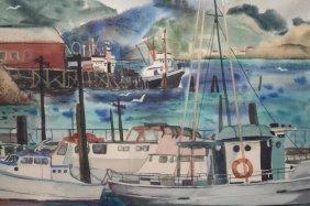 Mabel Miller (1873 - 1944) Watercolor