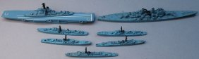 Tri-ang Us Navy Ship Fleet Models