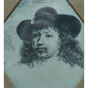 Godfried Van Schalcken (dutch 1643 - 1706) Etching