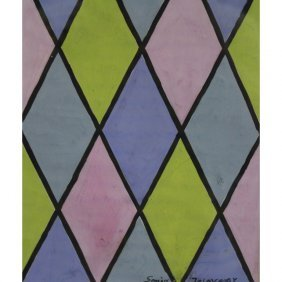 Attr. Sonia Delaunay (1885 - 1979) Gouache/paper