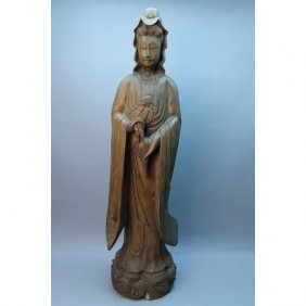 Vintage Carved Chinese Guanyin