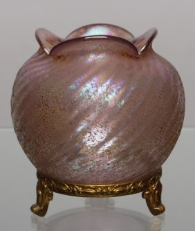 Loetz Vase With A Metal Mount