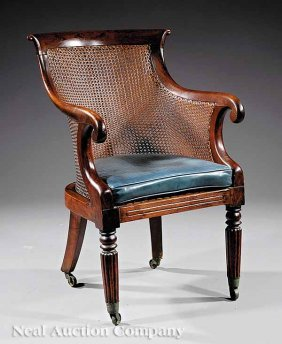 Regency Rosewood And Cane Bergere