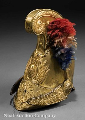 A Louis Philippe Gilt Brass Officer's Helmet