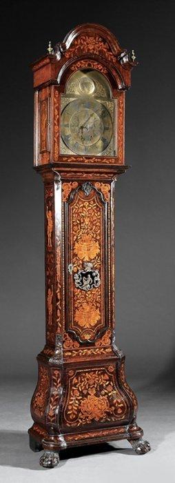 Dutch Marquetry Tall Case Clock