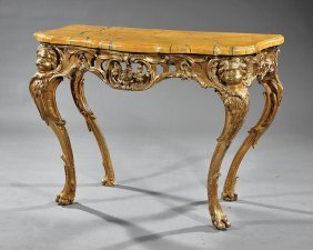Italian Rococo-style Carved And Gilded Console