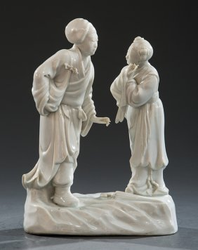 "Chinese ""blanc De Chine"" Porcelain Figural Group"