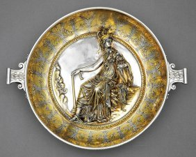 Christofle & Cie. Argente, Gilt Bronze Kylix