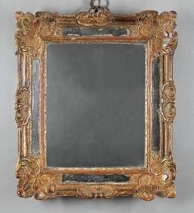 Louis Xv/xvi Carved And Gilt Mirror