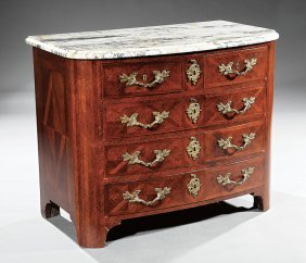 Parquetry Gilt Bronze-mounted Mahogany Commode