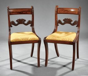 Classical Carved Mahogany Side Chairas