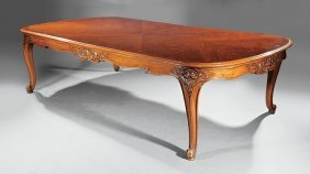 Louis Xv-style Carved Walnut Dining Table