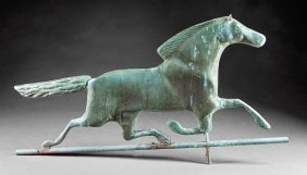 American Copper Running Horse Weathervane