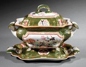 English Ironstone Covered Soup Tureen/undertray