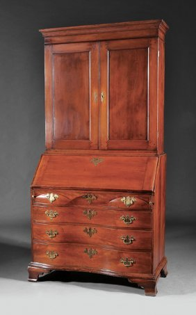 Federal Carved Cherrywood Secretary Bookcase