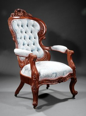 Rosewood Armchair, Attr. Belter