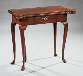Georgian Carved Mahogany Games Table