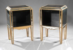 Art Deco Mirrored And Parcel Gilt Commodes