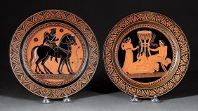 Naples (giustiniani) Redware Etruscan Plates