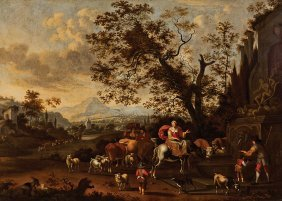 Manner Of Nicolaes Pietersz Berchem (dutch)